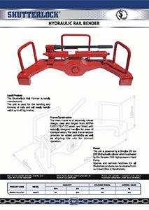 Hydraulic Rail Bender Page