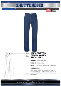 Core Workwear - Cotton Denim Work Trouser