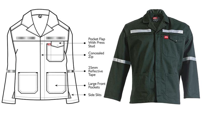 Acid Resistant Reflective Work Jacket