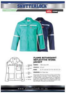 Flame Retardant Work Jacket Page