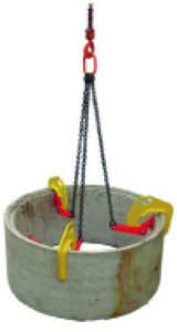 Construction Handling Equipment - Manhole Installation Clamp