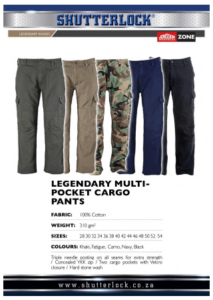 Legendary Multi Pocket Cargo Pants Page