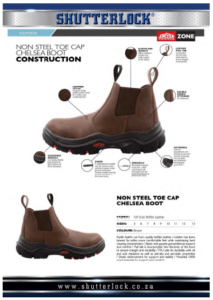 Non-Steel Toe Cap Chelsey Boot Page