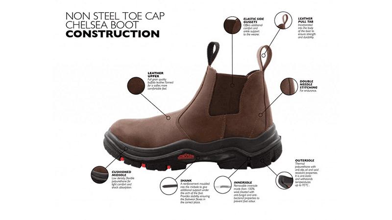 Non-Steel Toe Cap Chelsey Boot