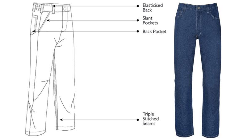 Denim Work Trousers