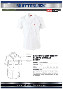 Lightweight Short Sleeve Combat Shirt Page