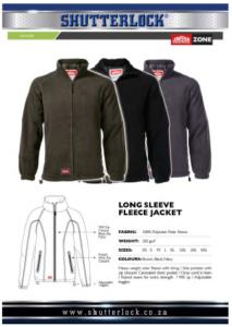 Long Sleeve Fleece Jacket Page