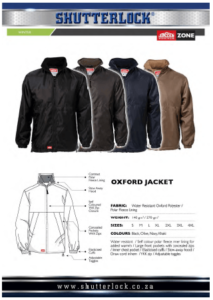 Oxford Jacket Page