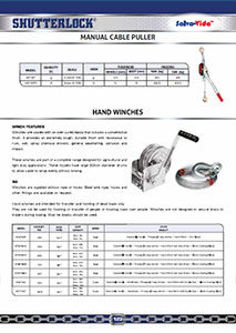 Manual Winches Page