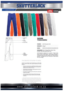 Core Workwear - Work Trouser