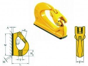Chain Assemblies Alloy EXCAVATOT weld-on hook