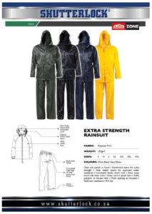 Rain Wear Extra Strength Rainsuit
