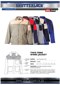 Core Workwear - Two Tone Work Jacket