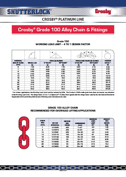 Crosby Platinum Line 7