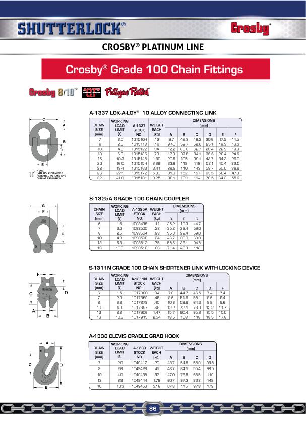 Crosby Platinum Line 10
