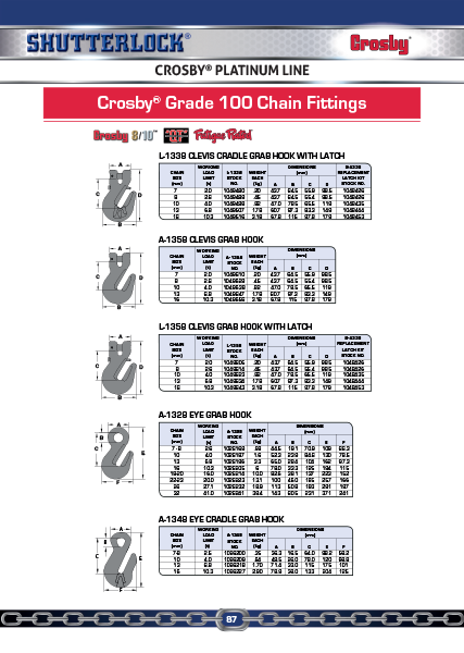Crosby Platinum Line 11