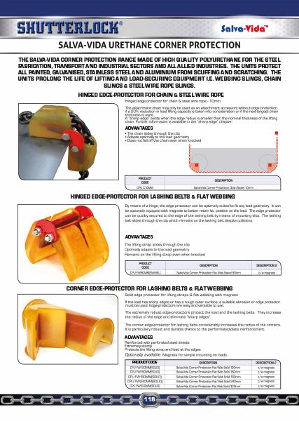 Salva-Vida Corner Protection Catalogue Page