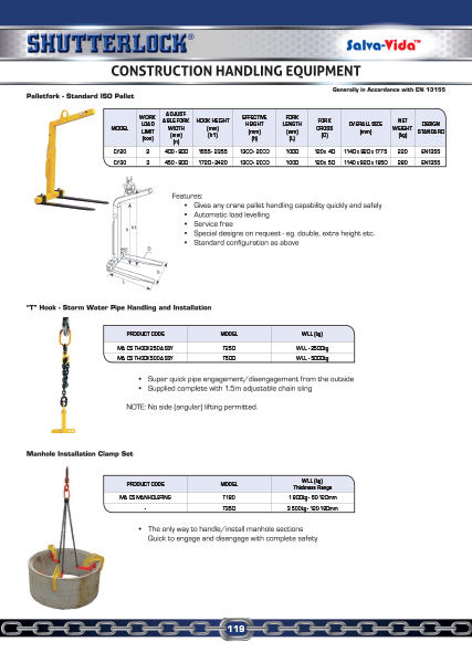 Construction Handling Equipment Catalogue Page