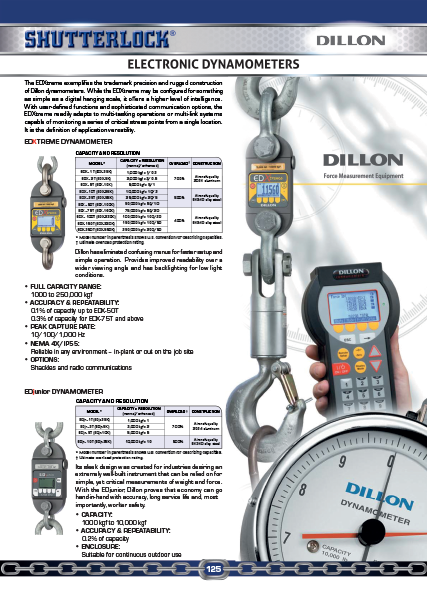 Dillon Load Cells Electronic Dynamometer