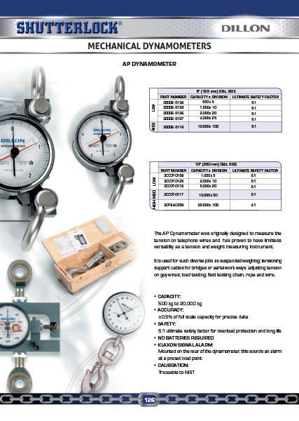 Dillon Load Cells Mechanical Dynamometer Page