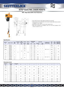 Kito Electric Chain Hoists Page 2