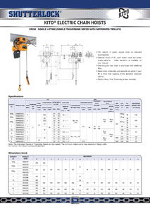 Kito Electric Chain Hoists Page 3