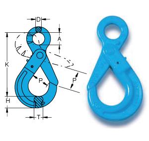Chain Assemblies Grade 10 Eye Sling hook with latch