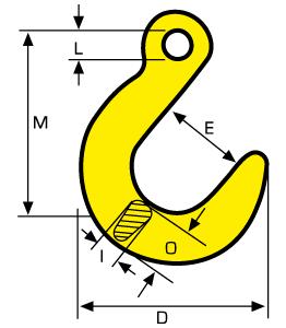 Chain Assemblies Grade 8 eye-type foundry hook