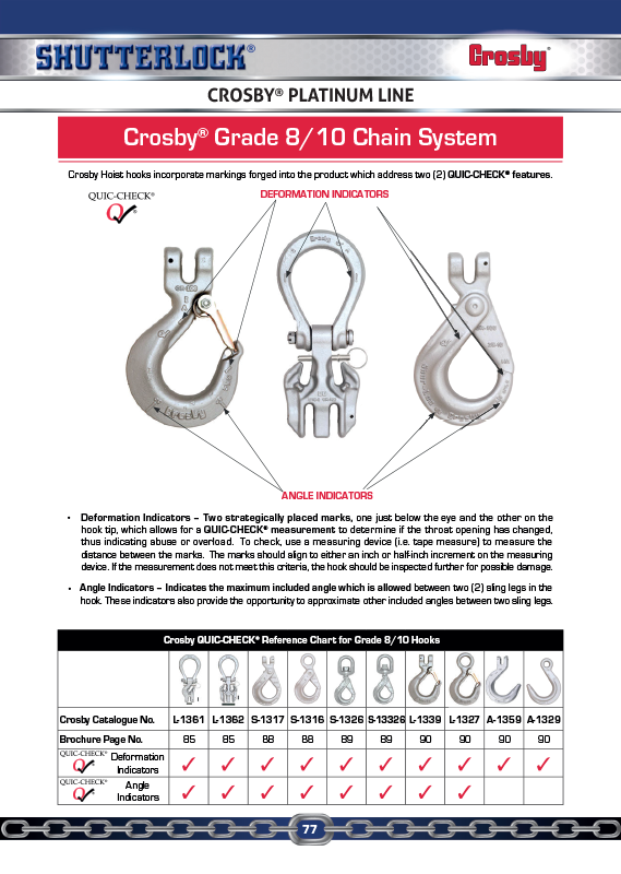 Crosby Platinum Line Page