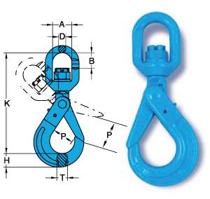 Chain Assemblies Swivel Self Locking Hook