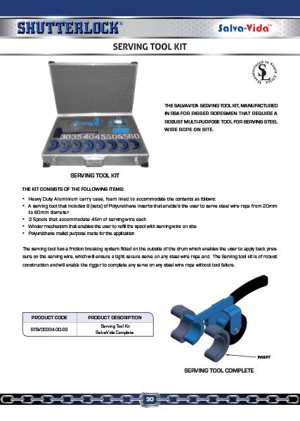 Serving Tool Kit Page