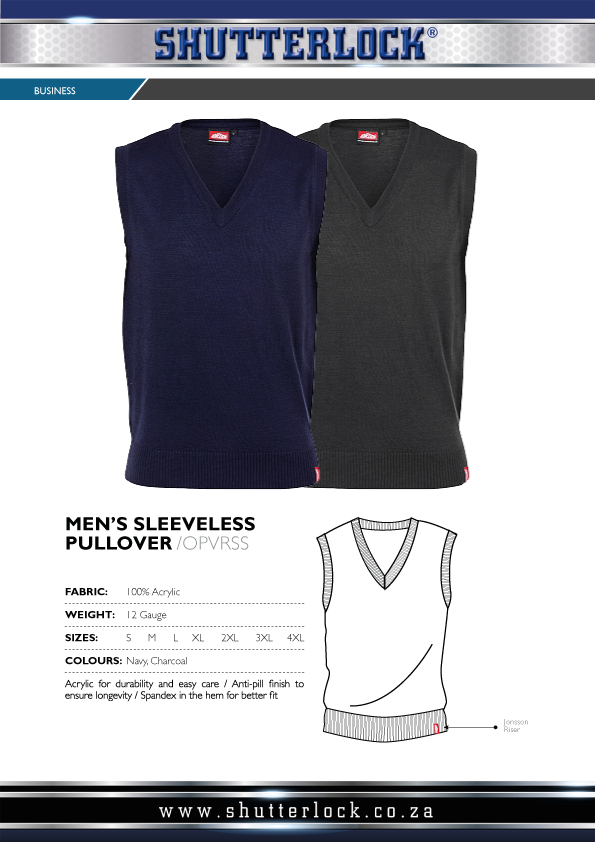 Men's Sleeveless Pullover Page