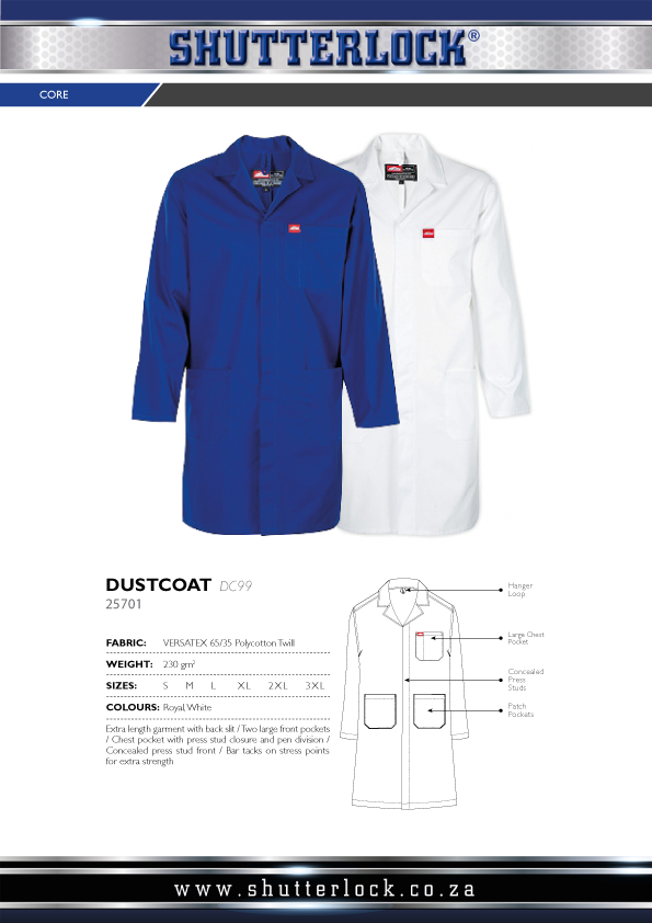 Core Workwear - Dust Coat