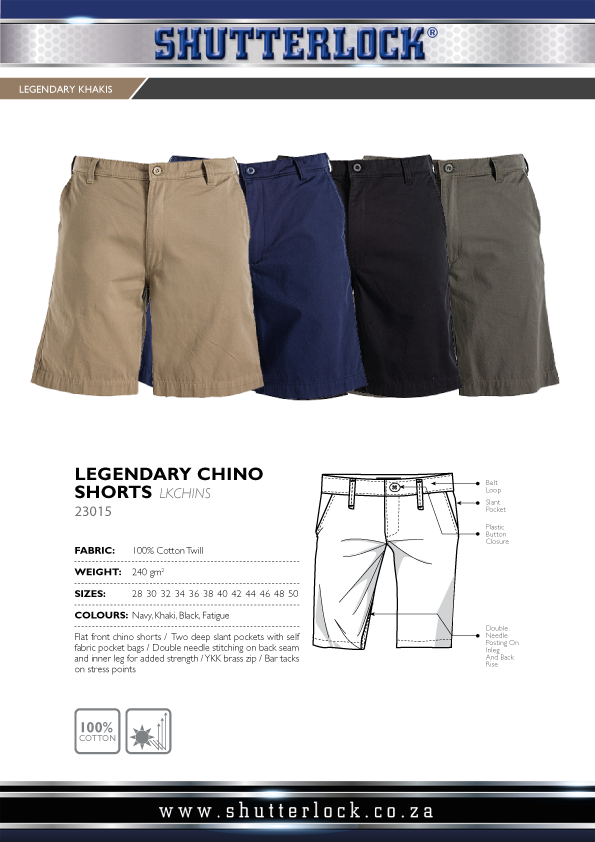 Legendary Khakis Chino Shorts
