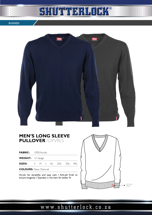 Men's Long Sleeve Pullover Page