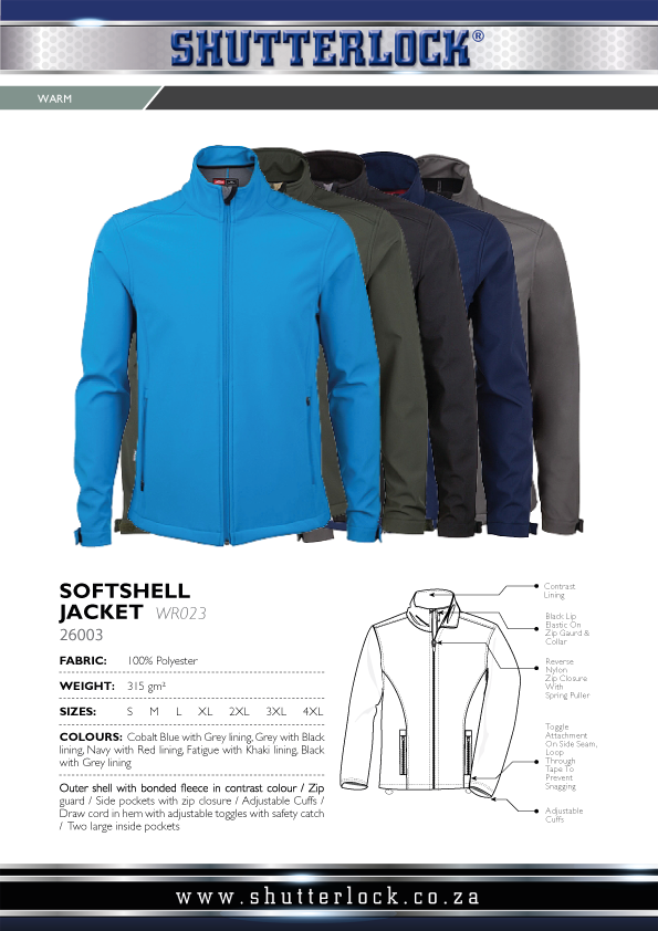 Men's Softshell Jacket Page