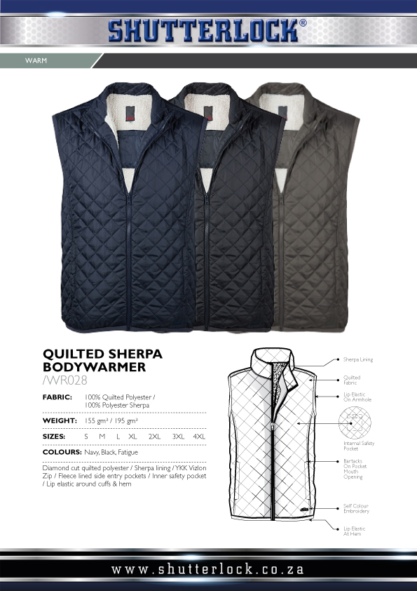 Men's Quilted Sherpa Bodywarmer Page
