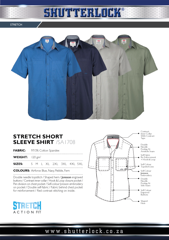 Legendary Khakis Stretch Short Sleeve Shirts