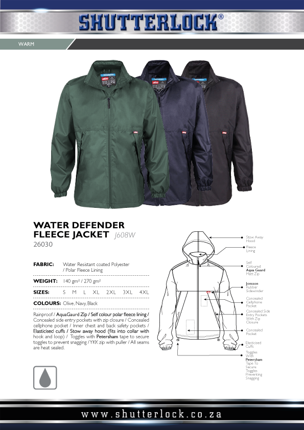 Water Defender Fleece Jacket Page