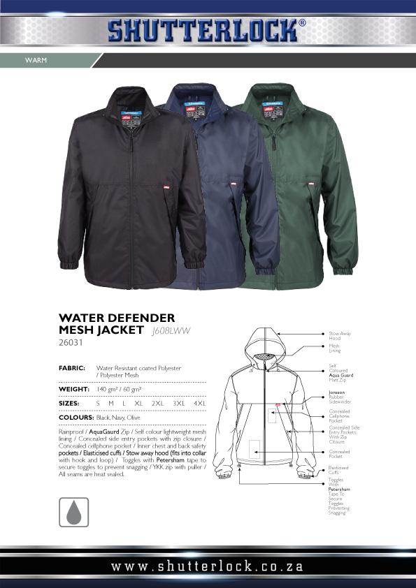 Water Defender Mesh Jacket Page