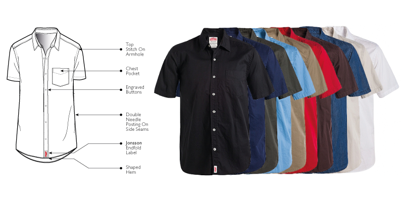 One Pocket Short Sleeve Shirts