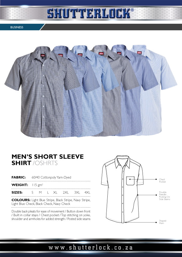 Men's Checkered Striped Short Sleeve Shirt Page