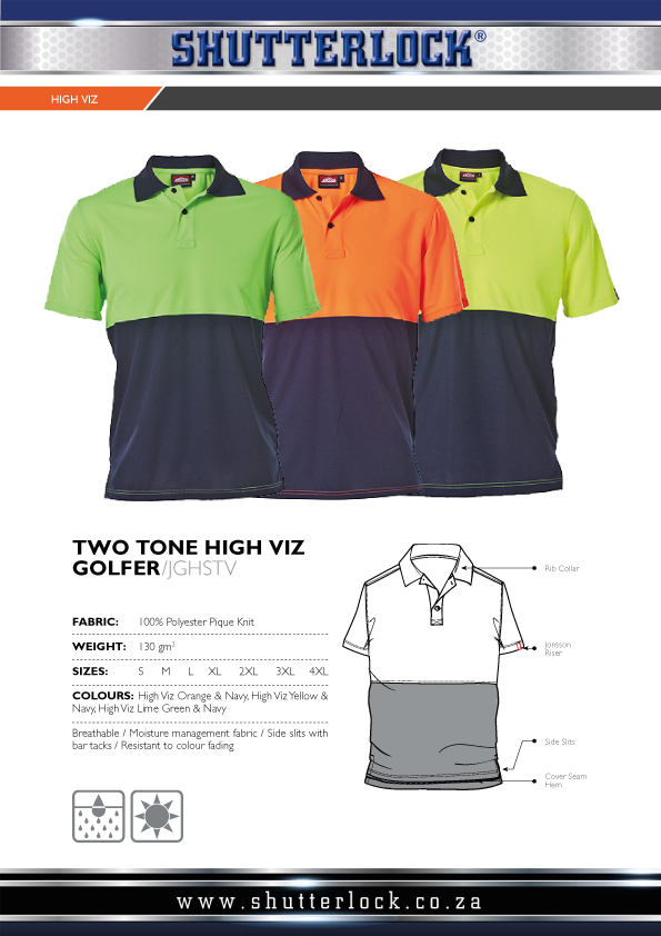 Two Tone High Visibility Golfer