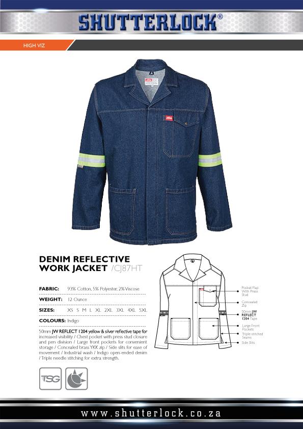Denim Reflective Work Jacket