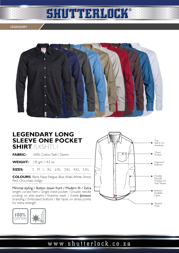 Legendary Khakis 1 Pocket LS Shirts