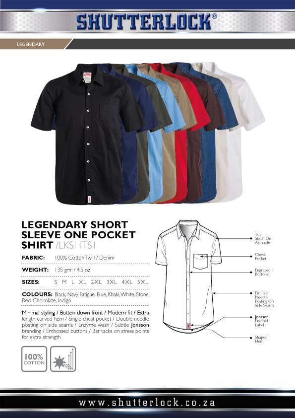 Legendary Khakis 1 Pocket SS Shirts