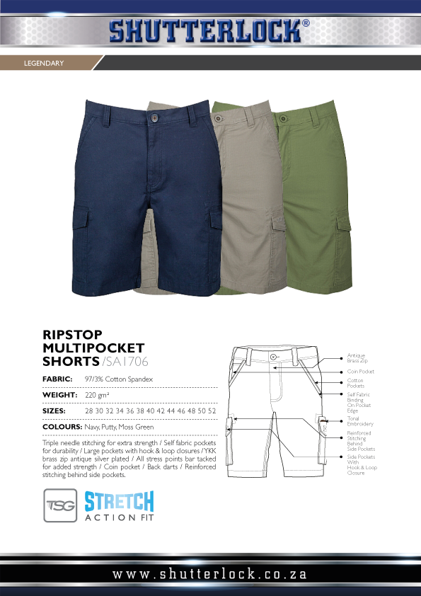 Legendary Khakis Ripstop Multipocket Shorts