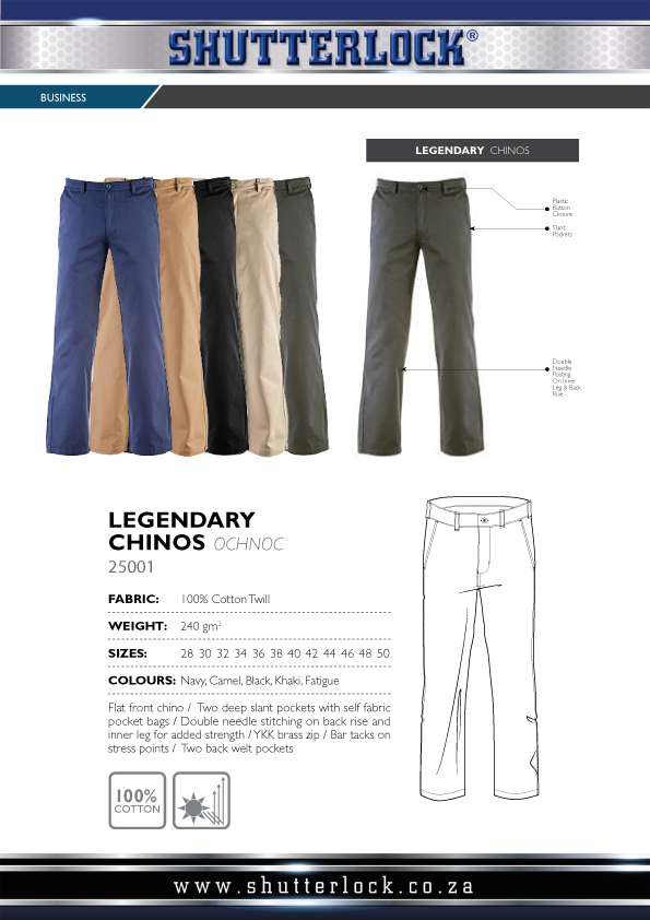 Men's Legendary Chinos Page