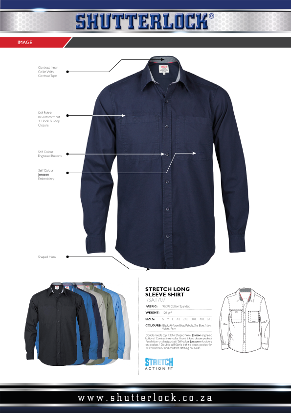 Stretch Long Sleeve Shirts Page