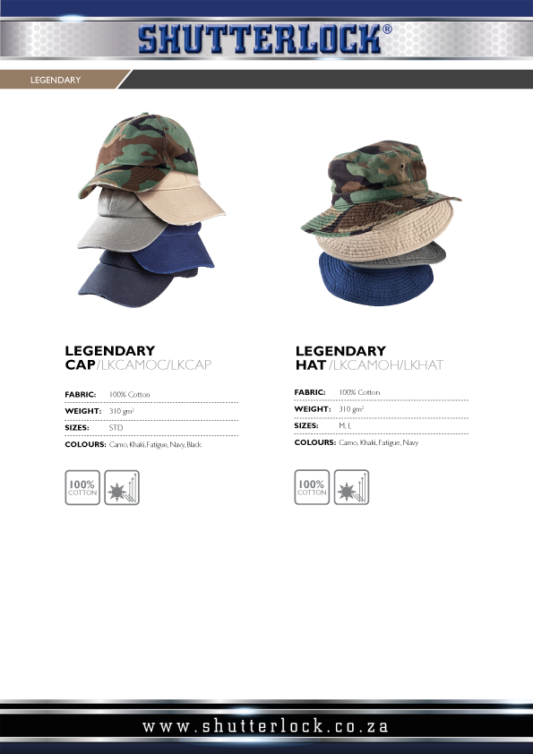 Legendary Khakis Hats and Caps